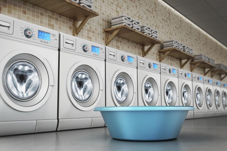 Voor professioneel wassen strijken en drogen goud laundry - Wassen handdoeken ...