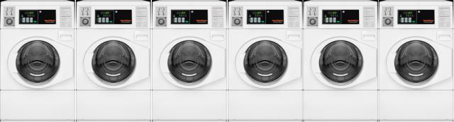 SpeedQueen investor 6 wasmachines met een inhoud van 10 kg bij Goud Laundry Solutions telefoon 0186576050