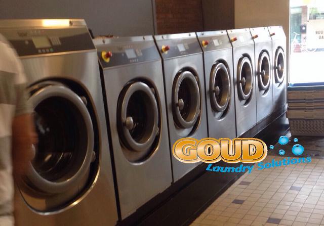 wassalon installatie nieuwe bedrijfwasmachines Goud Laundry Solutions