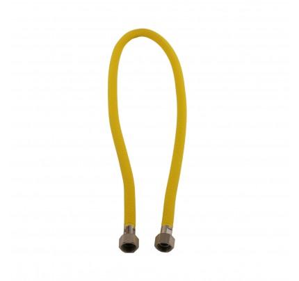 ecoflex gasslang 120 cm GASTEC keurmerk roestvrijstaal onderhoudsvrij