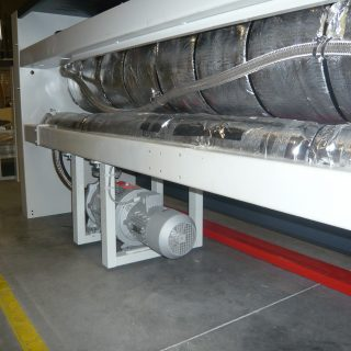 circulatiepomp voor thermische olie op de secom mangel