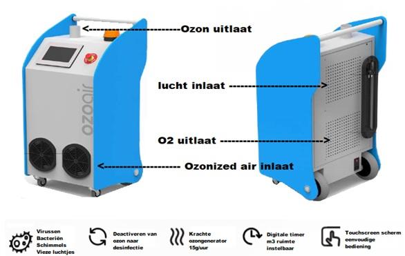 ozoair ozongenerator met ozon neutralizer